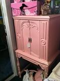painted antique storage cabinet