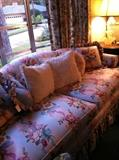 1 of 2 floral sofas