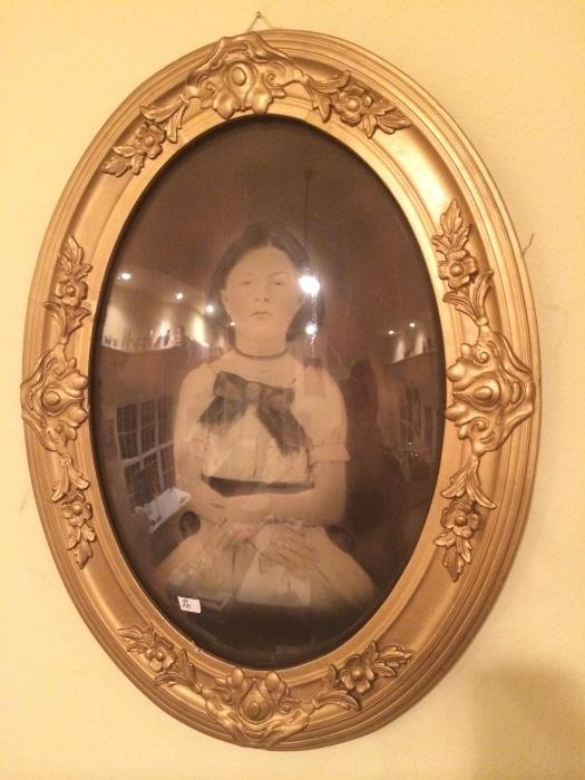Original Work By Local Artist Creepy Girl In Bubble Glassframe
